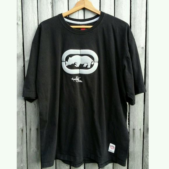 b8c1b3ef7 Ecko Unlimited Shirts | 90s Retro Black Ecko Unltd Xl Rhino Logo ...